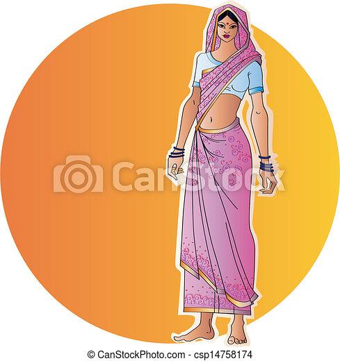 女, indian - csp14758174