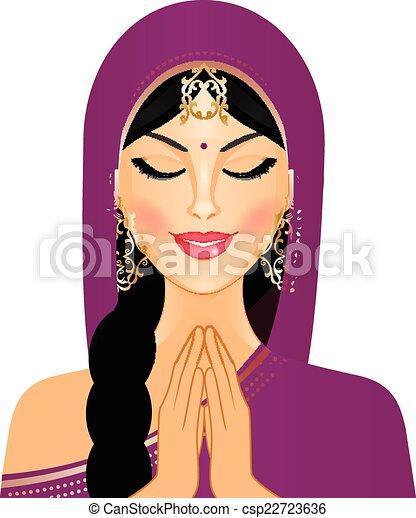 女, indian - csp22723636