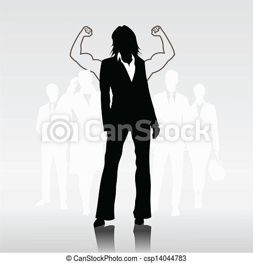 女, sucessful, チームのリーダー - csp14044783