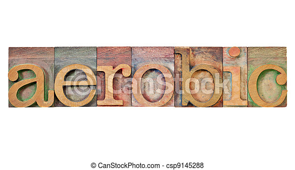 好気性, 単語, タイプ, 凸版印刷 - csp9145288