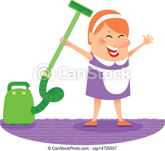 妇女, 打扫 - csp14725557
