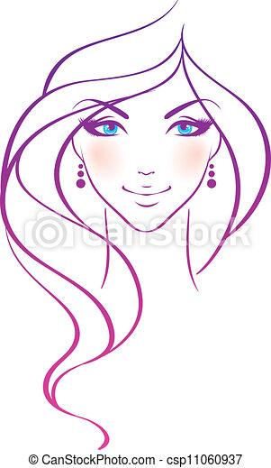 妇女, 美丽 - csp11060937