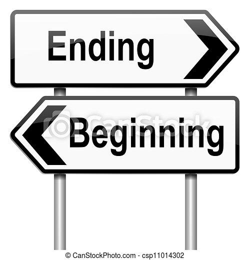 始めなさい あるいは End あるいは Roadsign Concept