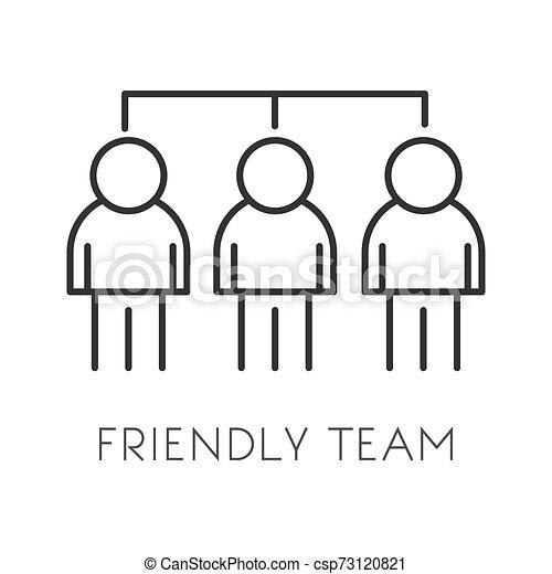 始動, 隔離された, 従業員, チームワーク, 協力, co-working, アイコン - csp73120821