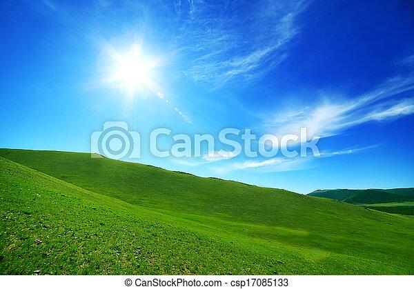 威厳がある, mongolian, 風景 - csp17085133