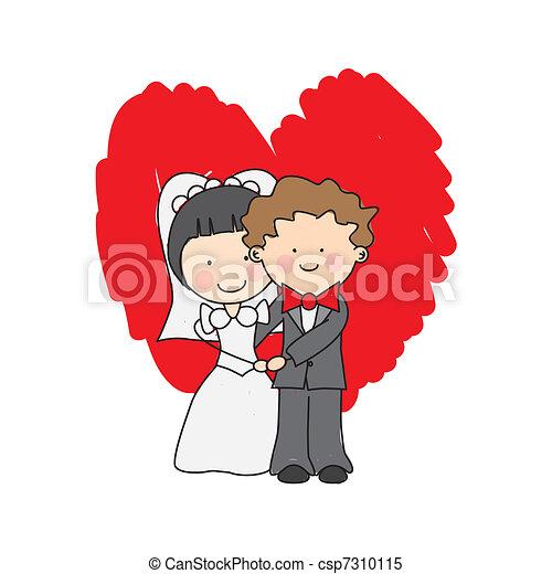 婚禮邀請 - csp7310115