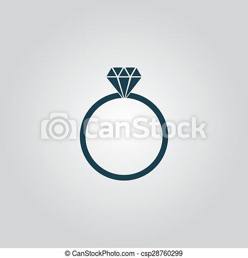 婚約指輪 ベクトル アイコン ダイヤモンド 概念 網 スタイル
