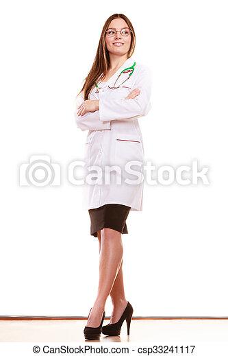 婦女醫生, 醫學的健康, 關心, stethoscope. - csp33241117
