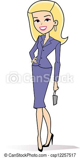 婦女, 卡通, clipart, retro - csp12257517