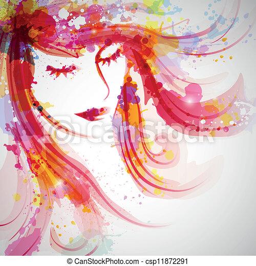 婦女, 時裝 - csp11872291