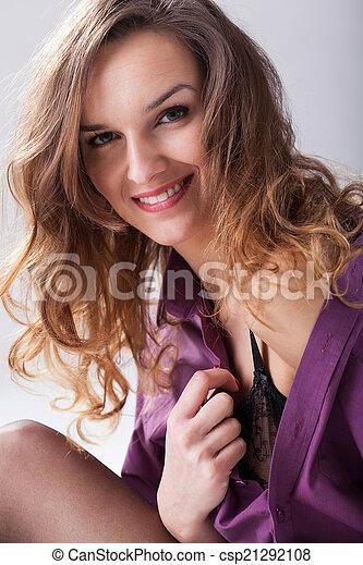婦女, 襯衫, 人 - csp21292108