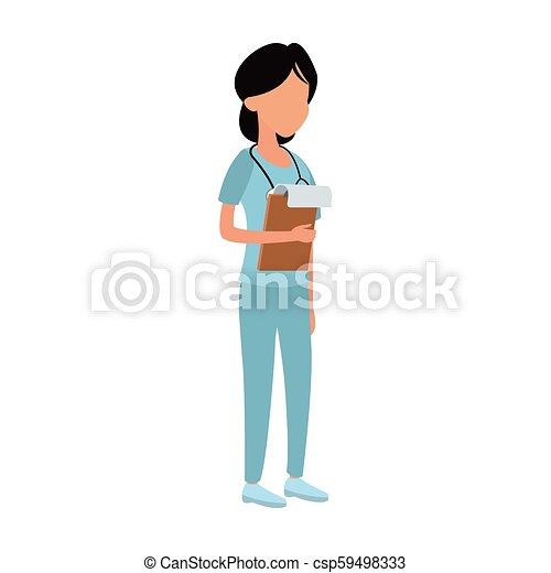 婦女, avatar, 醫生 - csp59498333