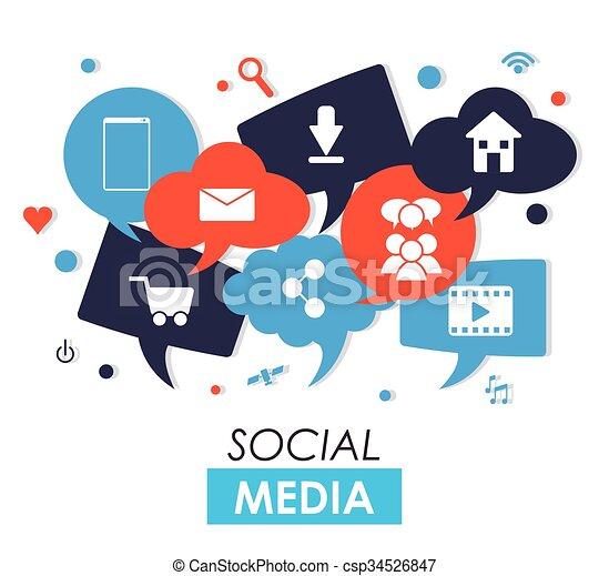 媒体, デザイン, 社会 - csp34526847