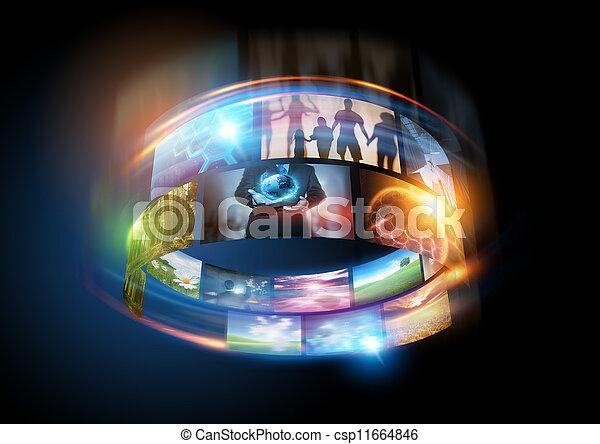 媒体, 世界 - csp11664846