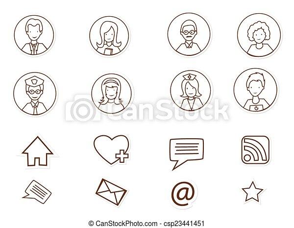 媒体, 人々, 社会, 接続 - csp23441451