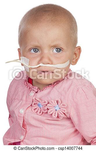 嬰孩, 拍打, 可愛, 疾病 - csp14007744