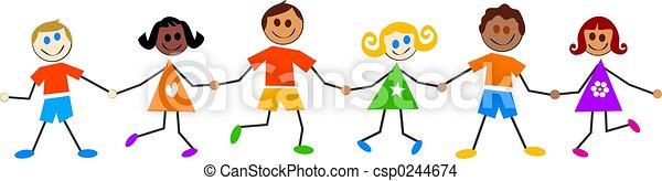 子供, カラフルである - csp0244674