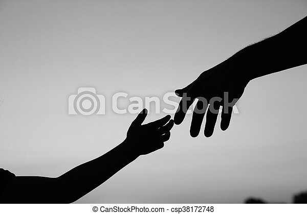 子供, シルエット, 親, 手 - csp38172748