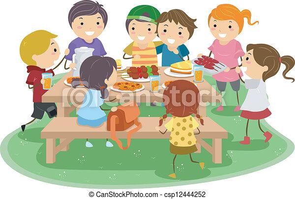 子供, ピクニック - csp12444252