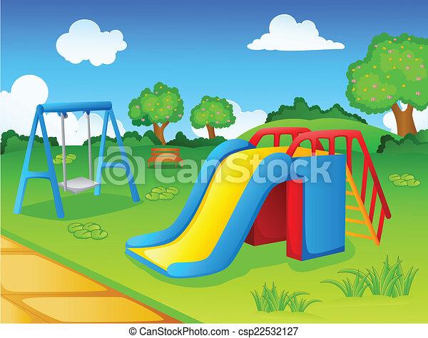 子供, プレー公園 - csp22532127