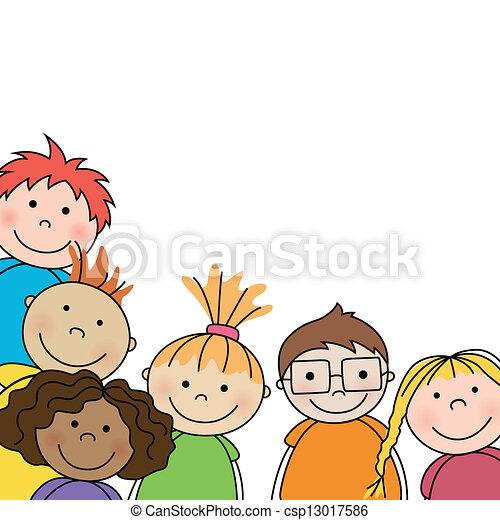 子供, ベクトル, 小さい - csp13017586