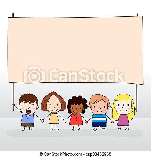 子供, 保有物, 板 - csp33462968