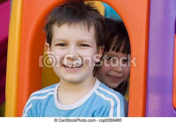 子供, 幸せ - csp0269480