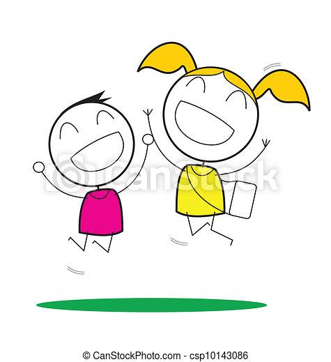 子供, 幸せ - csp10143086