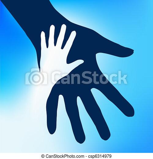 子供, 手, 助力 - csp6314979