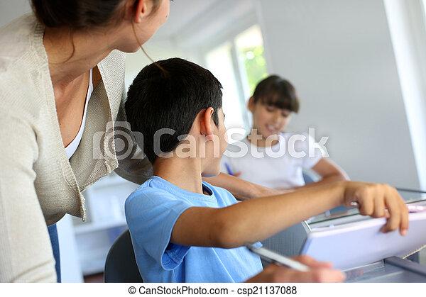 子供, 教師, クラス - csp21137088
