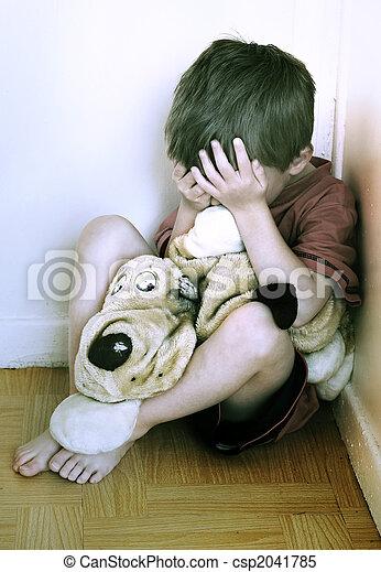 子供, 概念, abuse. - csp2041785
