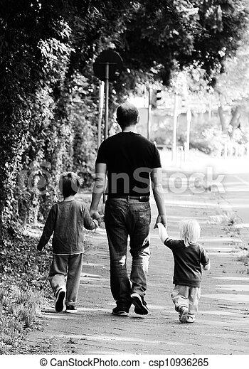 子供, 父, 2 - csp10936265