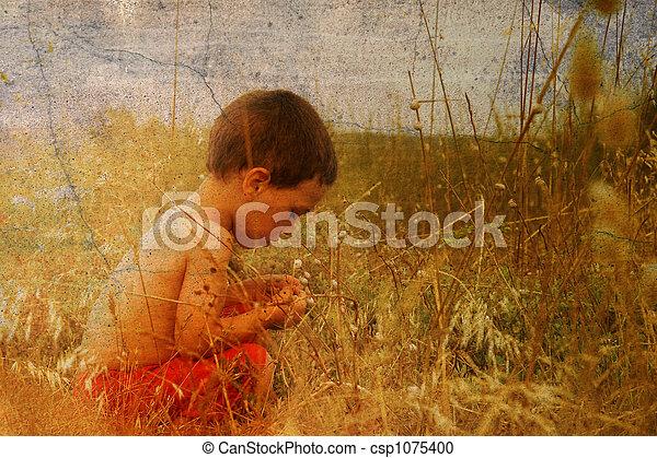 子供, 自然 - csp1075400