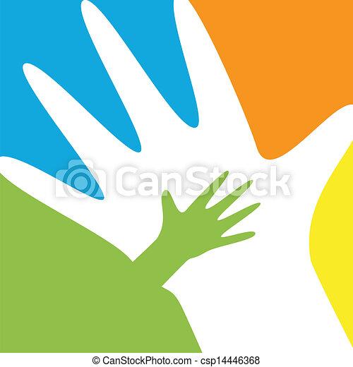 子供, 親, 手 - csp14446368