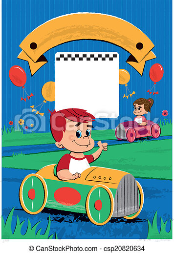 子供 誕生日パーティー イラスト ポスター 箱 ポスター イラスト