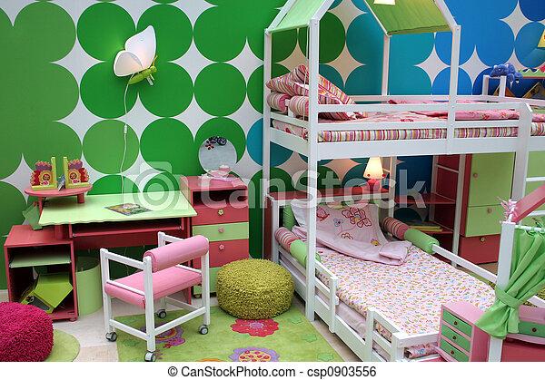 子供, 部屋 - csp0903556