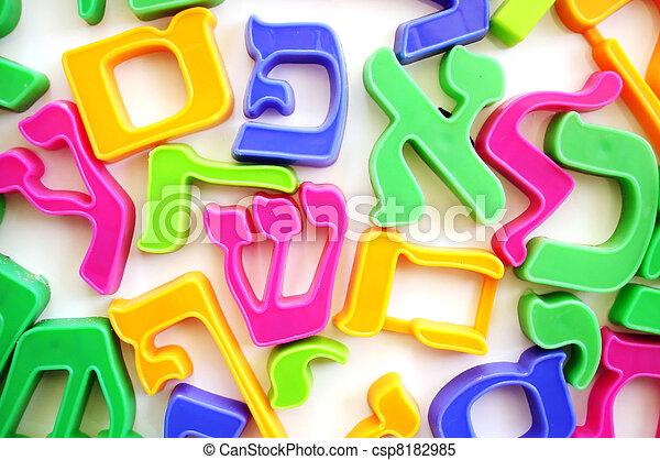 字母表, 信件, 希伯來人 - csp8182985