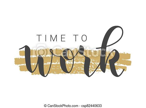字母, 矢量, work., 手寫, illustration., 時間 - csp82440633