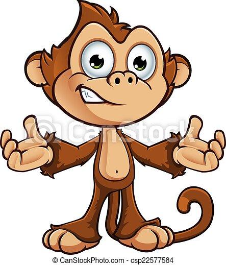 字, 厚顏無恥, 猴子 - csp22577584
