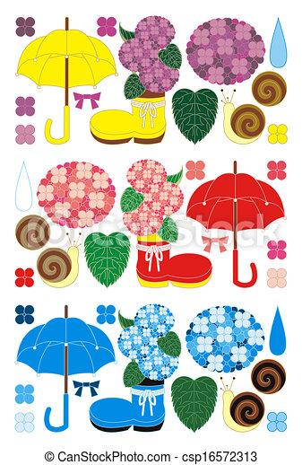 季節, 雨 - csp16572313