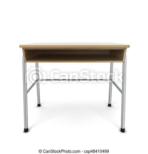 学校机 学校 隔離された イラスト Desk 背景 白 3d