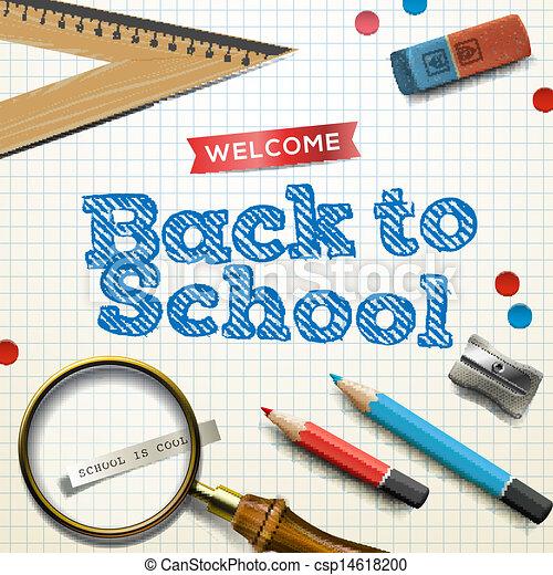 学校, 歓迎, 背中 - csp14618200