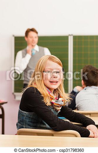 学校, -, 生徒, 教授, 教育, 教師 - csp31798360