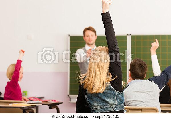 学校, -, 生徒, 教授, 教育, 教師 - csp31798405