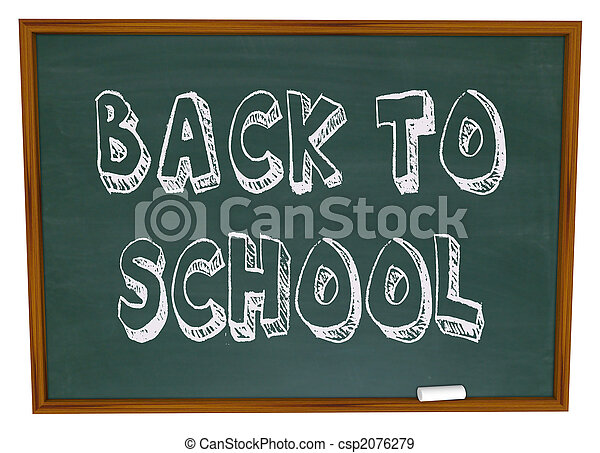 学校, -, 背中, 言葉, 黒板 - csp2076279