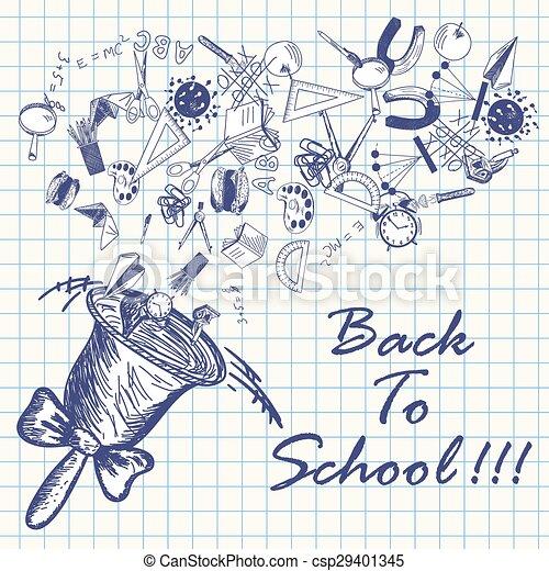 学校, 背中 - csp29401345