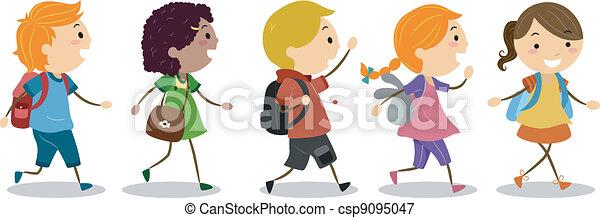 学校, 行く, 子供 - csp9095047