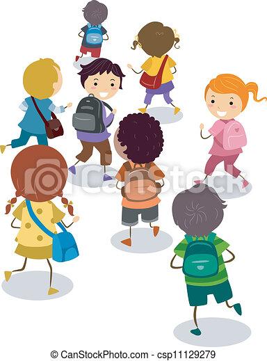 学校, 離れて - csp11129279