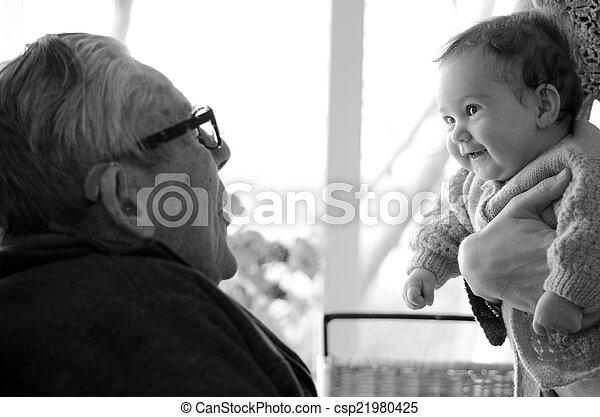 孫, プレーしなさい, 偉人, おじいさん, 彼の - csp21980425