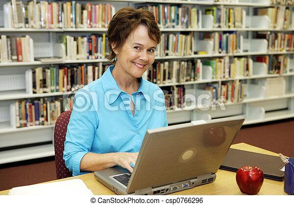 學校, -, 老師, 圖書館 - csp0766296